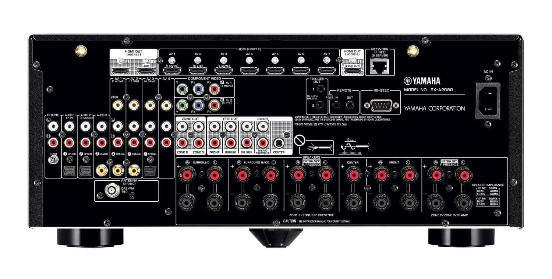 yamaha rx a2080 9 2 av receiver mit atmos und dts x support. Black Bedroom Furniture Sets. Home Design Ideas