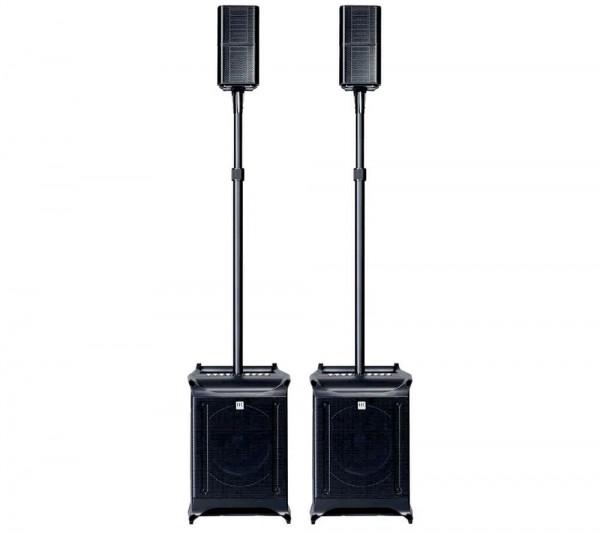 1500 Watt HK-Audio 2.2 PA-System mit eingebautem 3-Kanal Mischpult