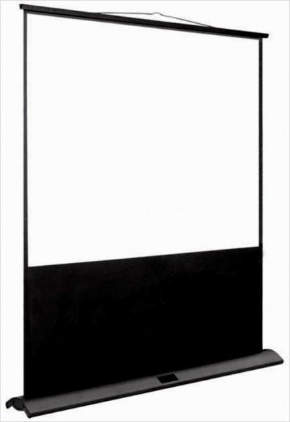 """mobile 90"""" Bodenleinwand, Format 16:9 oder 4:3"""